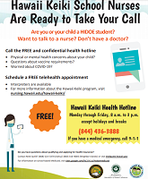 Hawaii keiki school nurses free and confidential hotline click to find more about the program